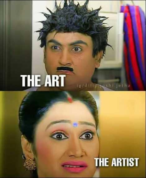 📺टीवी का फैशन💃 - THE ART posjetha THE ARTIST - ShareChat