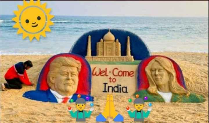 😯ट्रम्प पहुंचे भारत - Wel Come India to - ShareChat