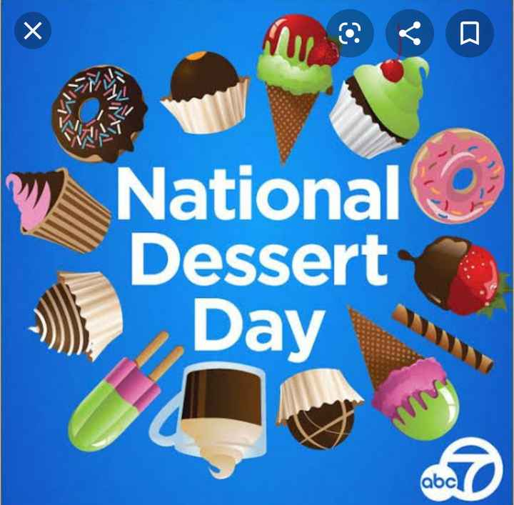 🍨डिजर्ट डे - W National Dessert Day abc - ShareChat