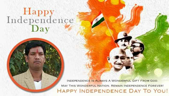 👐 तेरा मेरा हाथ - Happy Independence Day INDEPENDENCE IS ALWAYS A WONDERFUL GIFT FROM GOD . MAY THIS WONDERFUL NATION . REMAIN INDEPENDENCE FOREVER ! HAPPY INDEPENDENCE DAY TO YOU ! - ShareChat