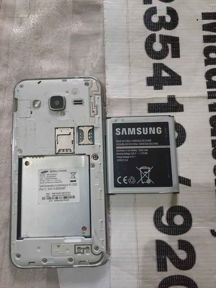 💔दर्द-ए-दिल - unui SAMSUNG LINIS MADE IN CHINA / FABRIQUÉ EN CHINE ENSAMBLADO EN CHINA / MONTADO NA CHINA 23541 _ 1920 Secondary Li - ion Battery 2000 mAh Nominal Voltage 3 . 85 V - / 7 . 70 Wh Charge Voltage 4 . 4V 11CP6 / 51 / 54 SE MOBILE PHONE MODEL SM J200G / DD FCC ID ALSMJ200F SSN : J200G / DDGSMH RATED 3 . 85 V 1500 mA MADE IN INDIA BY SAMSUNG Self Declaration - Conforming to IS 13252 ( Part 1 ) : 2010 , R - 85000280 IMEI 358 356 / 07 / 487372 / 9 IME 358 157 / 07 / 487372 / 6 S / N RZEH20K7GJW TIL - ShareChat