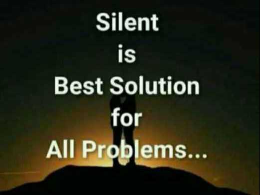 💔 दर्द-ए-दिल - Silent Best Solution for All Problems . . . - ShareChat