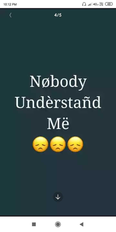 💔 दर्द-ए-दिल - 10 : 12 PM A 100 4G or you 43 415 Nøbody Understand Më - ShareChat
