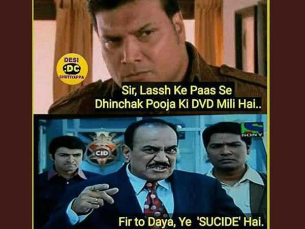 😋दशक के मज़ेदार मीम - DESI DC CHUTIYAPPA Sir , Lassh Ke Paas Se Dhinchak Pooja Ki DVD Mili Hai . . CID Fir to Daya , Ye ' SUCIDE ' Hai . - ShareChat