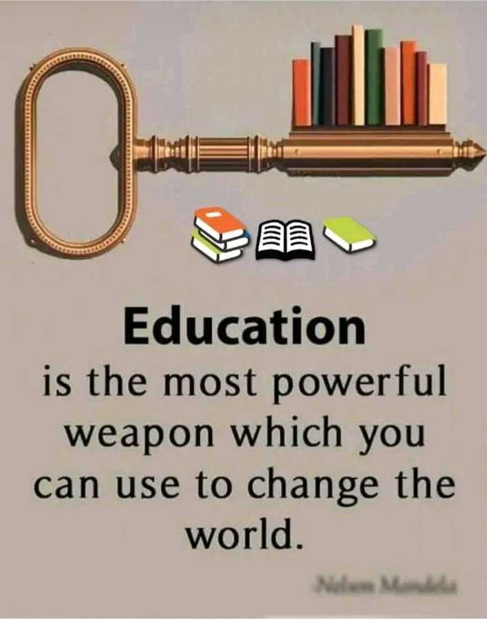 📝दहावी परीक्षा - Education is the most powerful weapon which you can use to change the world . - ShareChat