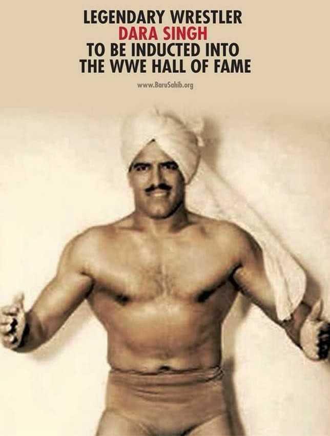 🌺 दारा सिंह पुण्यतिथि - LEGENDARY WRESTLER DARA SINGH TO BE INDUCTED INTO THE WWE HALL OF FAME www . BoruSahib . org - ShareChat