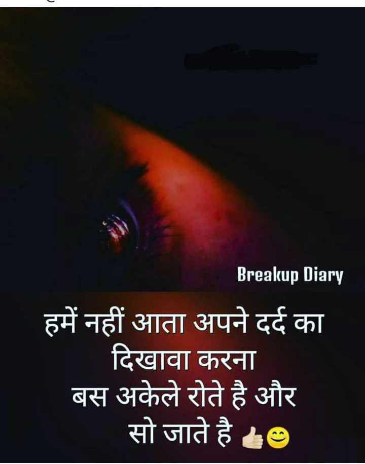 💓 दिल की आवाज़ - Breakup Diary हमें नहीं आता अपने दर्द का दिखावा करना बस अकेले रोते है और सो जाते है । - ShareChat