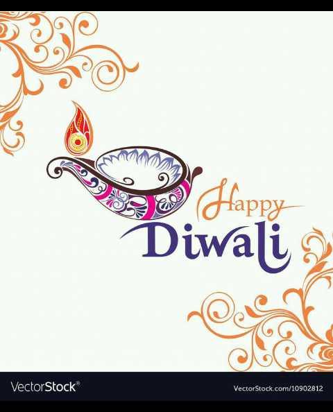 😊 दीपावली स्टेटस - Diwali a VectorStock VectorStock . com / 10902812 - ShareChat