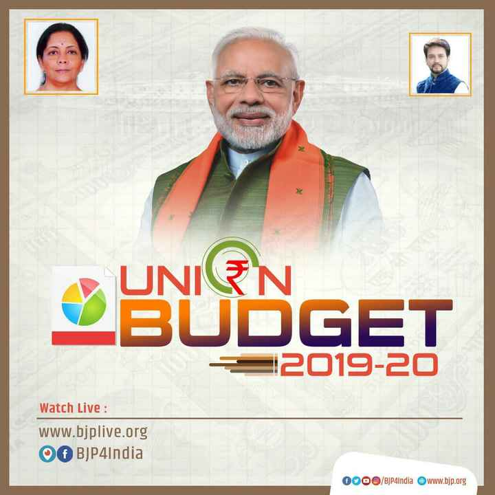 💼 देश का बजट - UNEN UBUDGET 2019 - 20 Watch Live : www . bjplive . org of BJP4India OO0O / BJP4India www . bjp . org - ShareChat