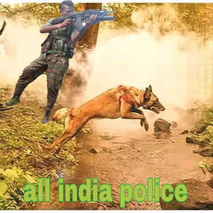🇮🇳 देश के जाबाज़ों को सल्यूट - wall india police - ShareChat