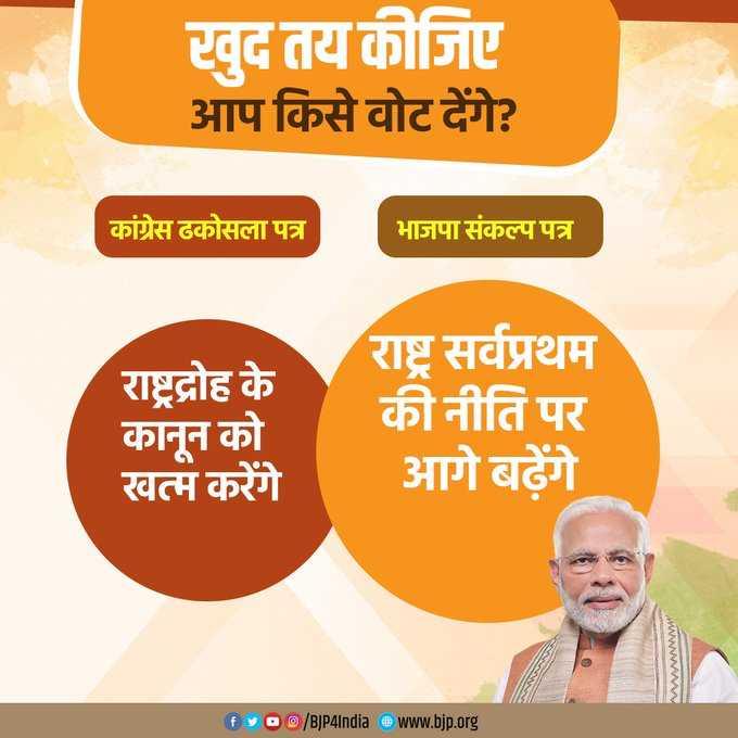 📝 नागरिकता संशोधन बिल - खुद तय कीजिए आप किसे वोट देंगे ? कांग्रेस ढकोसला पत्र भाजपा संकल्प पत्र राष्ट्रद्रोह के कानून को खत्म करेंगे राष्ट्र सर्वप्रथम की नीति पर आगे बढ़ेंगे Wwwwww fy00 / BJP4India @ www . bjp . org - ShareChat