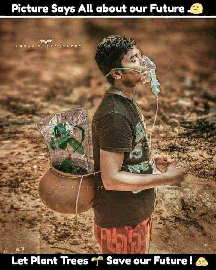 🌳 नेचर फोटो - Picture Says All about our Future . O ANWAR PHOTOGRAPHY PHOTOGRAP Let Plant Trees Save our Future ! - ShareChat