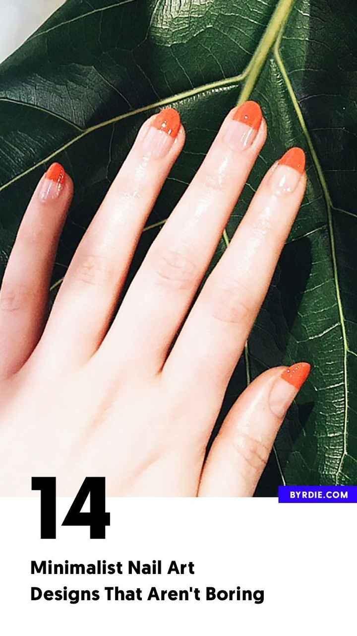 नेल-पेंट दिवस - BYRDIE . COM 14 Minimalist Nail Art Designs That Aren ' t Boring - ShareChat