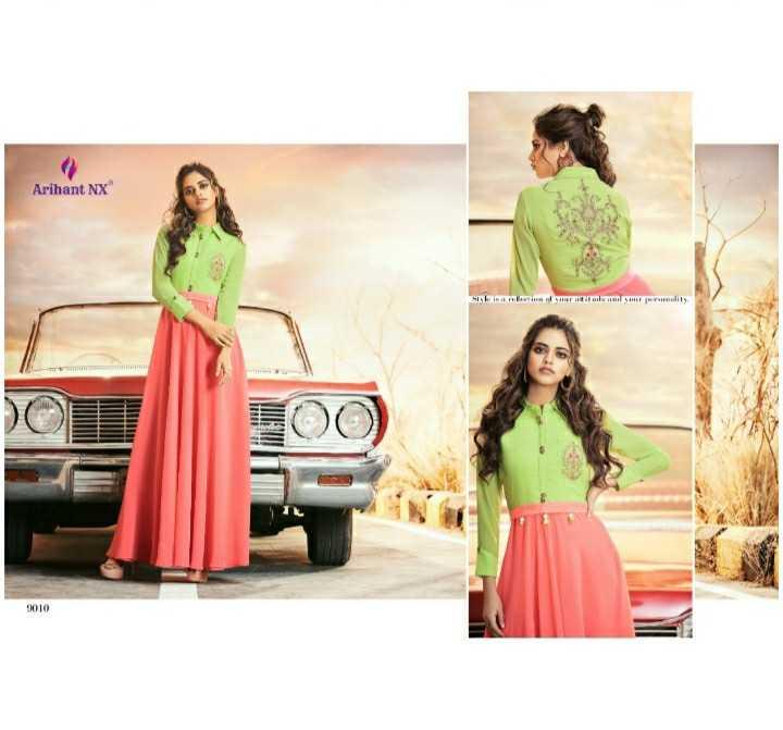 👗पार्टी ड्रेस/गाऊन/ वेस्टर्न / लँहगा/कुर्ती - Arihant NX 9010 - ShareChat