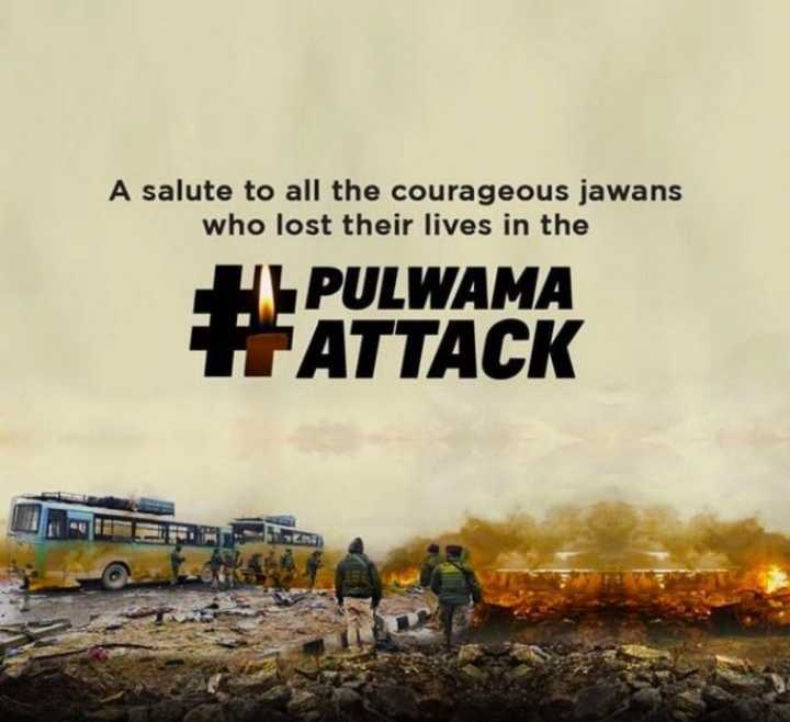 😥पुलवामा हमले के एक साल🙏 - A salute to all the courageous jawans who lost their lives in the IL PULWAMA TATTACK - ShareChat
