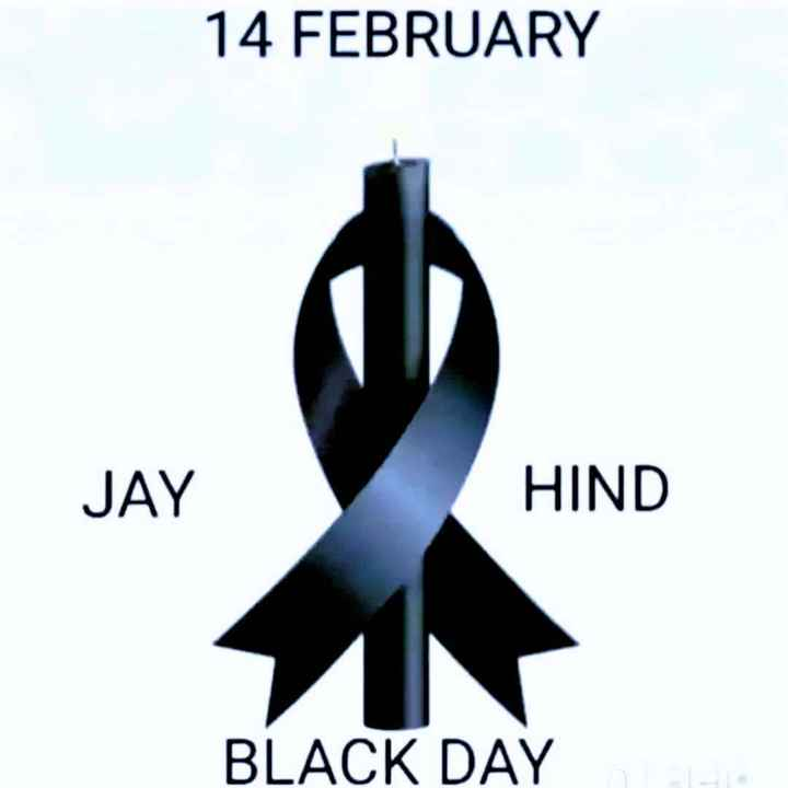 😥पुलवामा हमले के एक साल🙏 - 14 FEBRUARY JAY HIND BLACK DAY - ShareChat