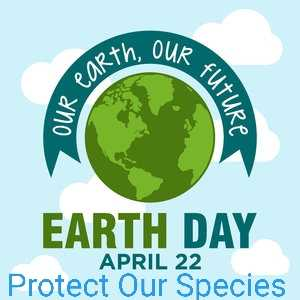🌎पृथ्वी दिवस - th . OUR earth OUR FUTURE EARTH DAY APRIL 22 Protect Our Species - ShareChat