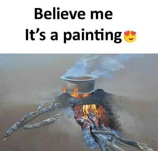पोस्टर पेंटिंग्स - Believe me It ' s a paintings - ShareChat