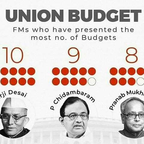 🎖प्रणब जी को भारत रत्न - UNION BUDGET FMS who have presented the most no . of Budgets jo damba , baram ji Desa ; Mukh Chids pranab - ShareChat