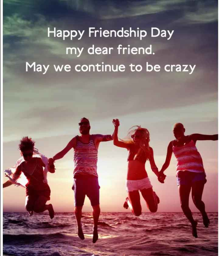 💗प्रेम / मैत्री स्टेट्स - Happy Friendship Day my dear friend . May we continue to be crazy - ShareChat