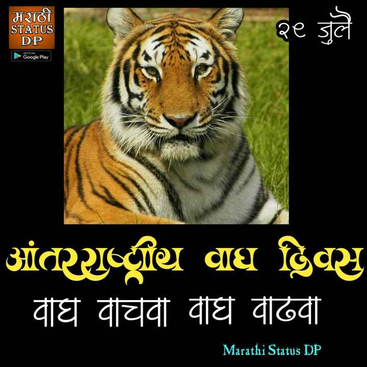 🙏प्रेरणादायक / सुविचार - मराठी STATUS DP २८ जुलै GET IT ON Google Play પાંતથિ વધુ હિંસુ | वधि वीचवी वाघ वढिवी Marathi Status DP - ShareChat