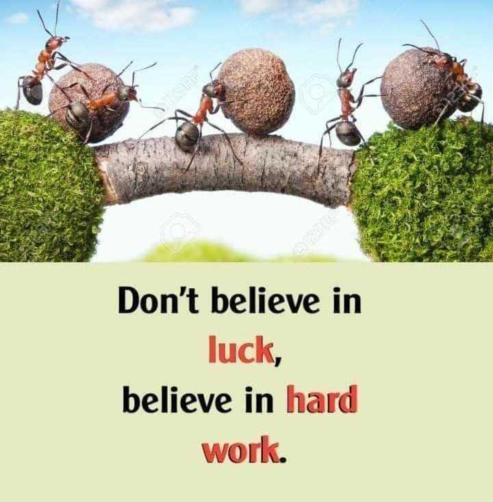 👍 प्रेरणादायक- Motivation✌ - Don ' t believe in luck , believe in hard work . - ShareChat