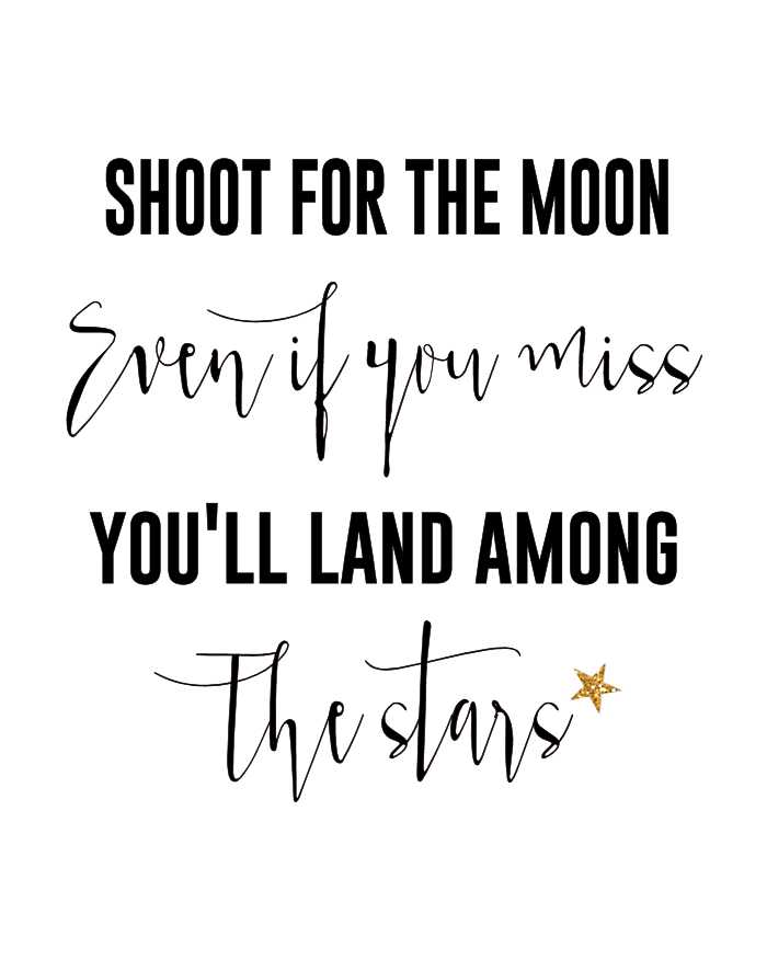 🙏प्रेरणादायक - SHOOT FOR THE MOON Even if you miss YOU ' LL LAND AMONG The stars - ShareChat