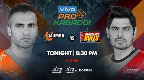 🤼 प्रो कबड्डी - vivo PROD KABADDI MUMBA VS BENGALURU BULLS TONIGHT | 8 : 30 PM LIVE ON * 2 2 . 0 hotstar - ShareChat