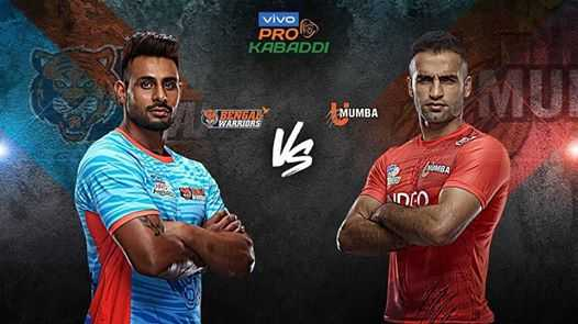 🤼 प्रो कबड्डी - vivo PRO KABADDI BENGARY WARRIORS MUMBA 0 - ShareChat