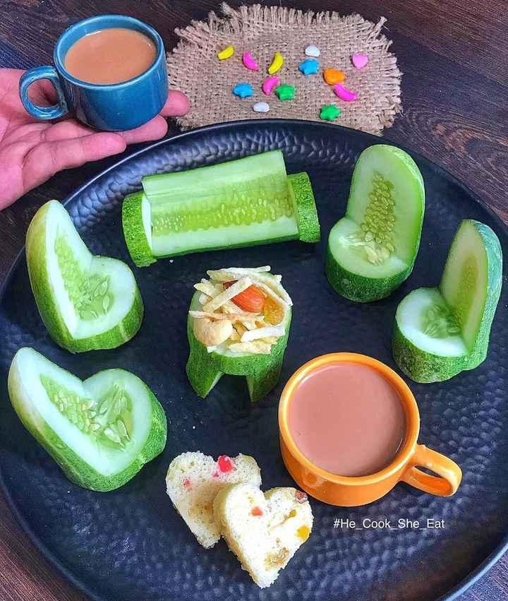 🍱फ़ूड फोटोग्राफर - # He Cook She _ Eat - ShareChat