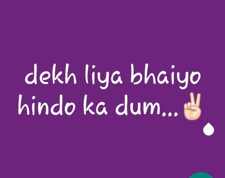 🙏🏼फिर एक बार मोदी सरकार - dekh liya bhaiyo hindo ka dum . . . - ShareChat