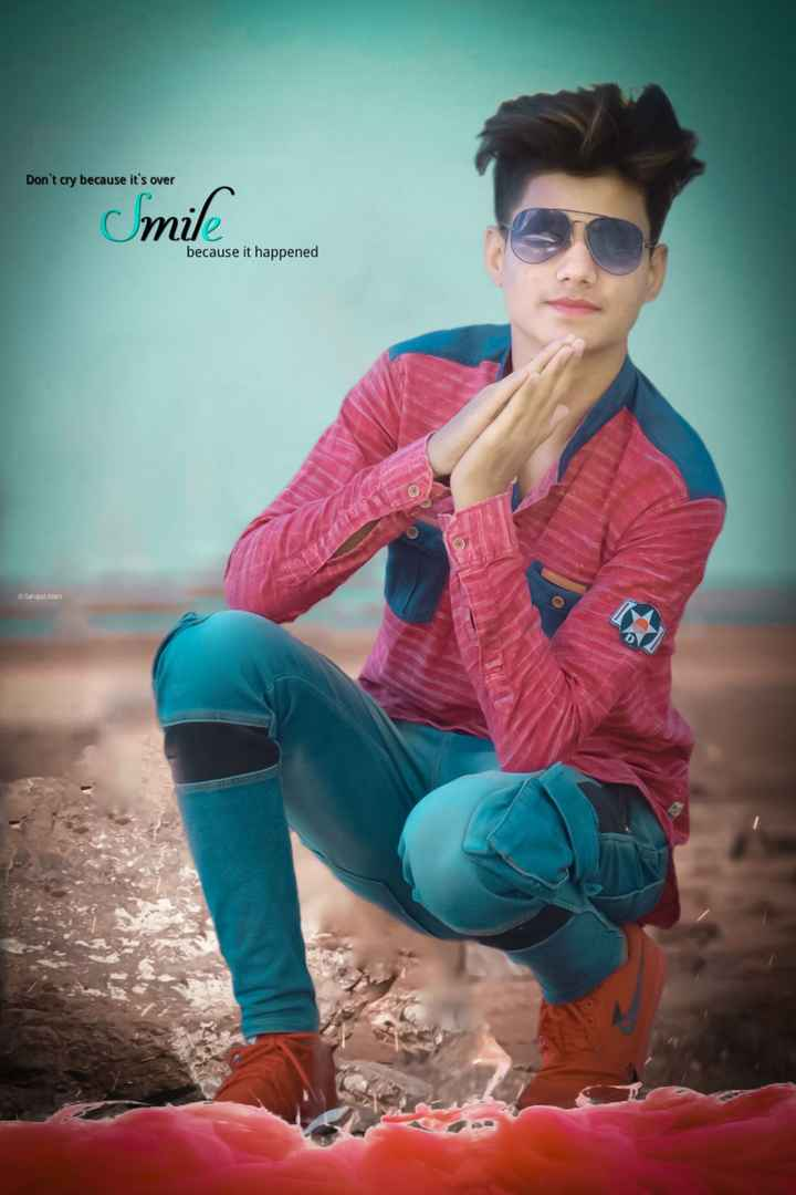 👗फैशन टिप्स - Don ' t cry because it ' s over Smile because it happened a Sahajad Alam - ShareChat
