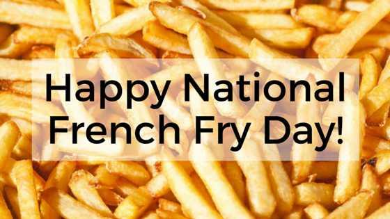 🍟फ्रेंच फ्राई डे - * Happy National French Fry Day ! VOU - ShareChat