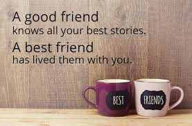 फ्रेंडशिप डे - A good friend knows all your best stories . A best friend has lived them with you . BEST FRIENDS - ShareChat