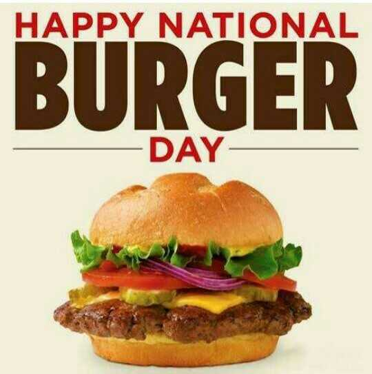 🍔 बर्गर डे - HAPPY NATIONAL BURGER - DAY - ShareChat
