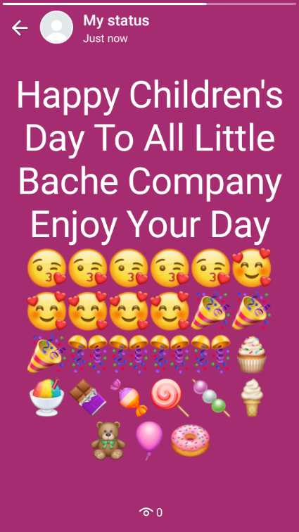 👶बाल दिवस - My status Just now Happy Children ' s Day To All Little Bache Company Enjoy Your Day DO - ShareChat