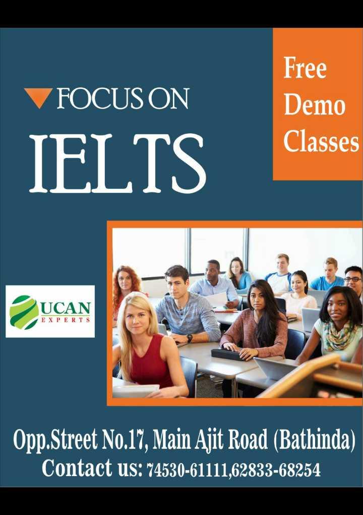 🕺बाला चैलेंज 💃 - FOCUS ON Free Demo Classes IELTS UCAN UCAN EXPERTS Opp . Street No . 17 , Main Ajit Road ( Bathinda ) Contact us : 174530 - 61111 , 62833 - 68254 - ShareChat