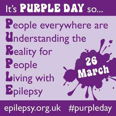 बैंगनी दिवस - It ' s PURPLE DAY SO . . . People everywhere are Understanding the Reality for People 26 Living with March Epilepsy epilepsy . org . uk # purpleday - ShareChat