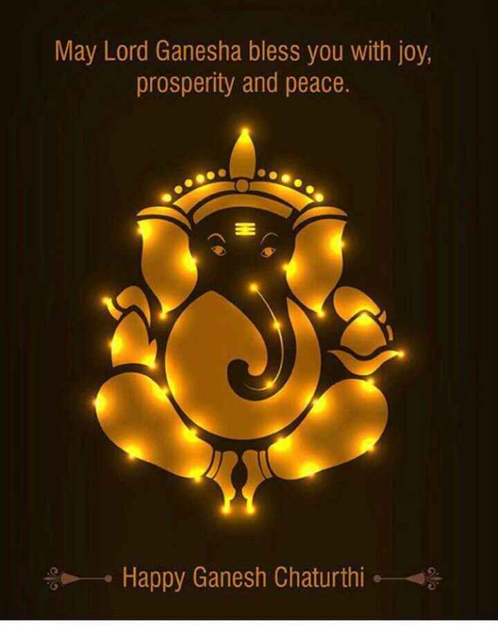 बॉयज गैंग 😎 - May Lord Ganesha bless you with joy , prosperity and peace . Happy Ganesh Chaturthi 3 - ShareChat