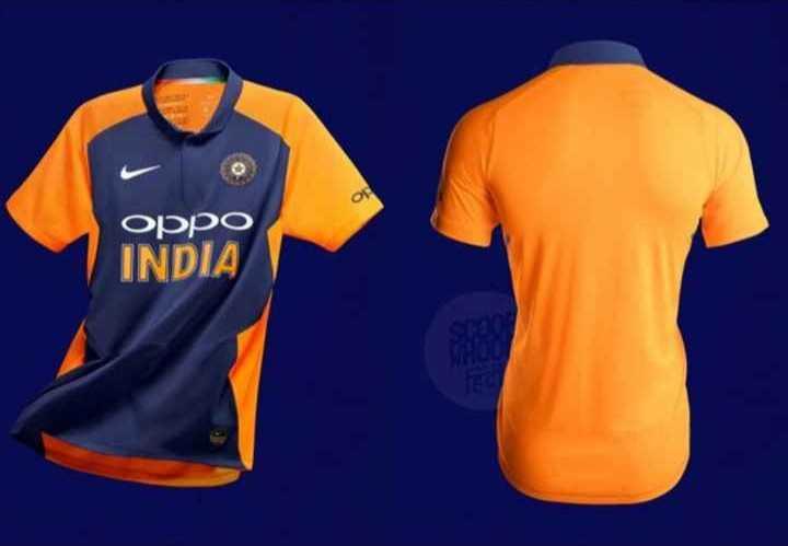 🏆 भगवा जर्सी में टीम इंडिया 🧡 - OPPO INDIA - ShareChat