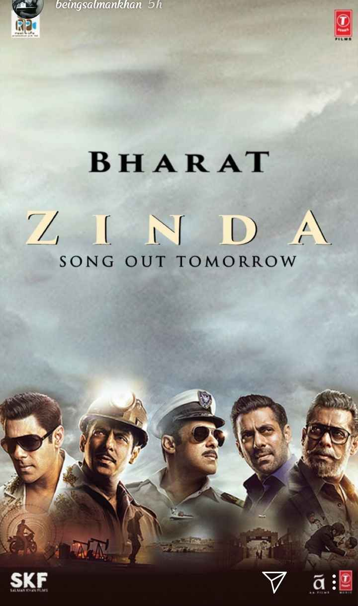 🎞भाईचा भारत मुव्ही ट्रेलर - beingsalmankhan 5h BHARAT Z IN D A SONG OUT TOMORROW SKF V ā : D SALMAN KHAN RMS - ShareChat