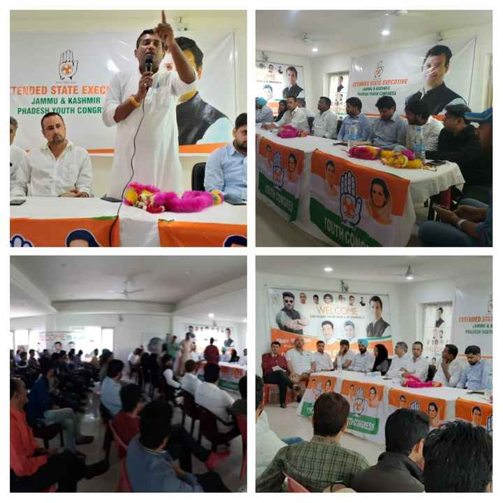 भारतीय युवा कांग्रेस - EXTENDED STATE EXECUTIVE W & KASHMIR PRADESH YOUTH CONGRESS TENDED STATE EXEC JAMMU & KASHMIR PRADESH YOUTH CONGR WELCOME EXTENDED STAT JAMMU & PRADESH YOUTH ha Na THOONGRESS - ShareChat