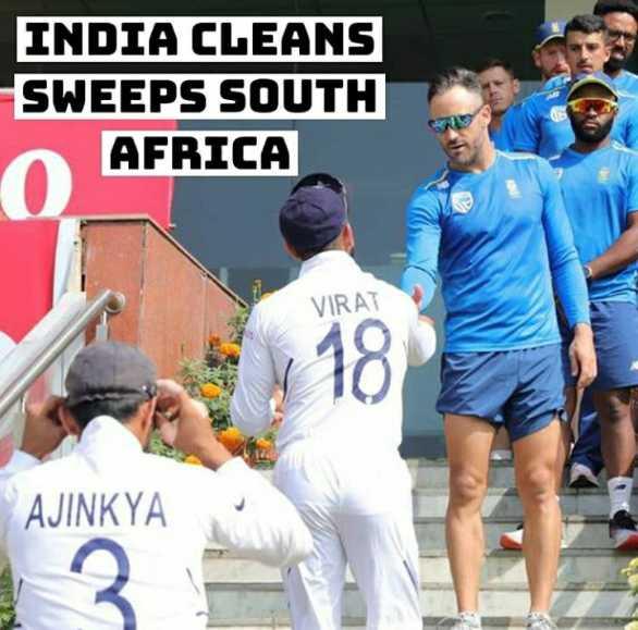 🏏भारत vs द.आफ्रिका Live - INDIA CLEANS SWEEPS SOUTH AFRICA VIRAT 18 AJINKYA - ShareChat