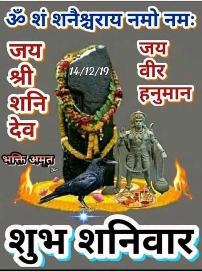 🌺 मंदिर के दर्शन - ॐशशनैश्चराय नमो नमः जय जय श्री 14 / 12 / 198 वीर हनुमान भक्ति अमत Shiv शुभ शनिवार - ShareChat