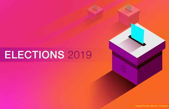 🗳मतदाता जागरुकता ☝ - ELECTIONS 2019 Created for Mi Calendar | © Xiaomi - ShareChat