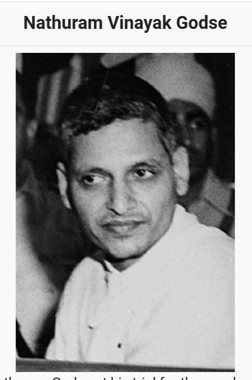 🎂 महात्मा गाँधी जयंती - Nathuram Vinayak Godse - ShareChat