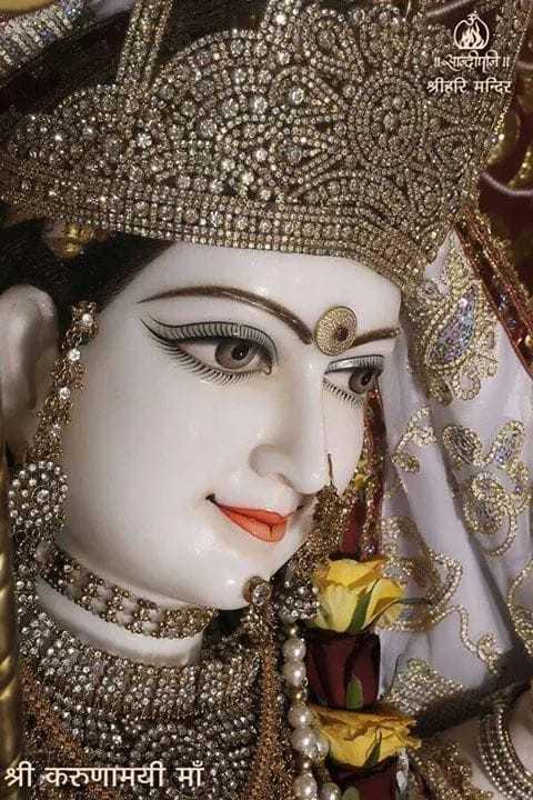 🌹माँ शैलपुत्री - माँ ब्रम्हचारिणी - श्रीहरि मन्दिर श्री करुणामयी माँ - ShareChat