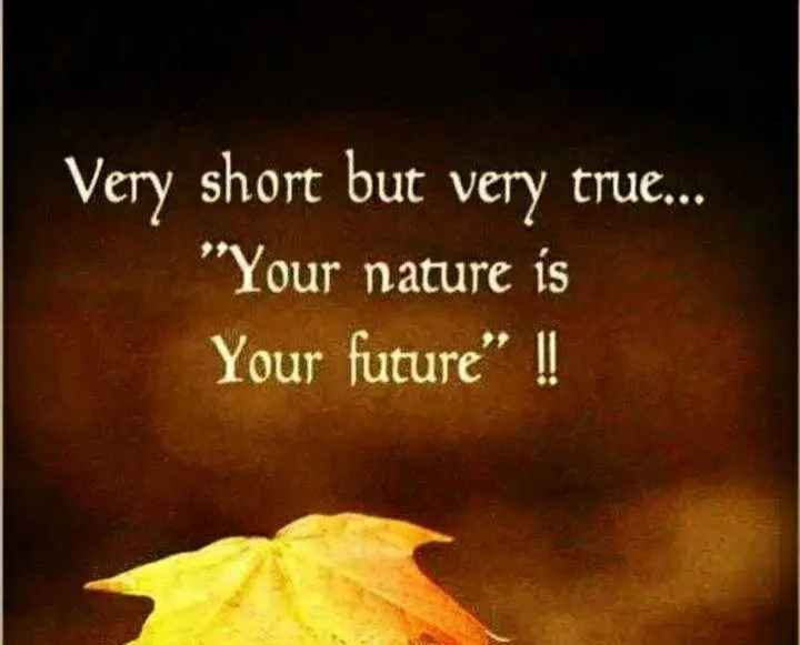 💭माझे विचार - Very short but very true . . . Your nature is Your future ! ! - ShareChat