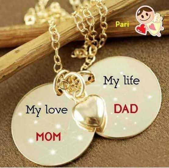 🙏माता-पिता - Pari My life DAD My love MOM - ShareChat