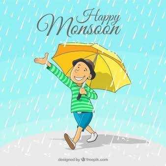 मानसून की दस्तक - 11 ! Mensdon Happy designed by freepik . com - ShareChat